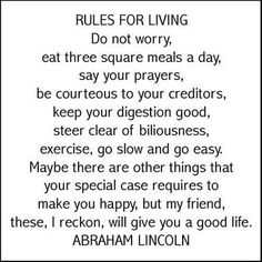 Honest Abe keeping it real!