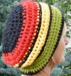 Original Rasta Hat Red Green Yellow Black by hatsbyanne1942, $38.00