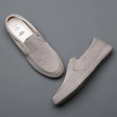 Black Vulcanized Canvas Men's Casual Shoes Breathable Flat Loafers | Touchy Style Brown Shoes With Jeans, Mens Brown Casual Shoes, Best Casual Shoes, Casual Slip On Shoes, Grey Shoes, Men Casual, Discount Shoes Online, Mens Shoes Online, Loafers Outfit