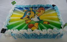 Bolo do Fuleco - Copa do Mundo 2014 - Brasil - Theme Cake - World Cup - https://www.docemeldoces.com/