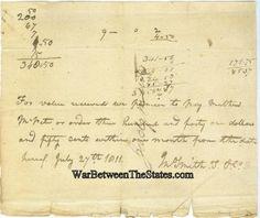 1811 Promissory Note, John Smith T