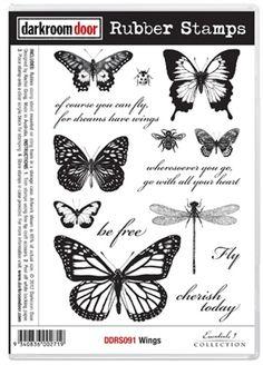 Darkroom Door Stamp Wings
