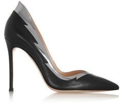 Gianvito Rossi Metallic-trimmed leather pumps on shopstyle.com.au