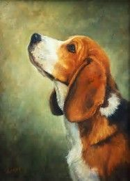 Image result for Beagle Puppy Painting