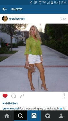 I want this Gretchen Rossi outfit for Vegas! STUNNING!!!!