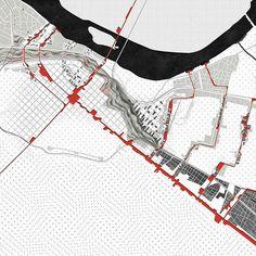 Organic Sequences | Piacenza Master Plan Circulation Mapping #mapping #urbanplanning #urbanism #masterplan #diagram @act_of_mapping