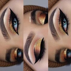 ideas for thanksgiving dinner Gorgeous Gold Glitter Makeup for Make-Up Ideas for Thanksgiving Dinner.Gorgeous Gold Glitter Makeup for Make-Up Ideas for Thanksgiving Dinner. Makeup Trends, Makeup Hacks, Makeup Goals, Makeup Inspo, Makeup Inspiration, Makeup Ideas, Makeup Tutorials, Makeup Geek, Teen Makeup