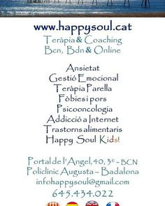 www.happysoul.cat Terapia & Coaching  BCN, Bdn & Online
