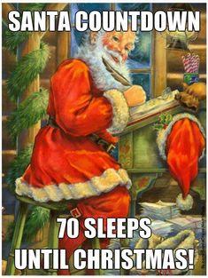 Santa Countdown, Sleeps Until Christmas, North Pole, Painting, Art, Art Background, Painting Art, Kunst, Arctic