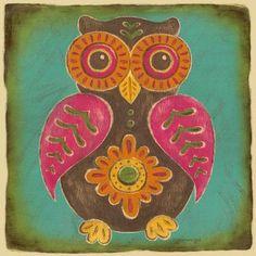 Oopsy Daisy Folklore Owl Canvas Art