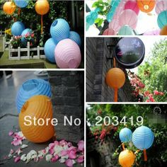 8 inch 20cm Round Chinese Paper Lantern for Birthday Wedding Party Decoration gift craft DIY wholesale $24,18