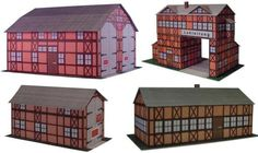 German Architectural Paper Models In 1/72 Scale For Train Sets Dioramas, RPG And Wargames - by Projekt Bastelbogen