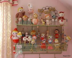 Wonderful collection of vintage baby rattles!
