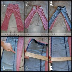 Skinny jeans, altering jeans, altering clothes, altered t shirts, sewing . Altering Pants, Altering Clothes, Sewing Jeans, Sewing Clothes, Baggy Clothes, Sewing Hacks, Sewing Tutorials, Sewing Tips, Make Skinny Jeans