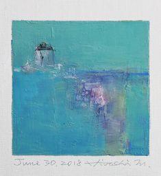 "June 30, 2018 9 cm x 9 cm (app. 4"" x 4"") oil on canvas © 2018 Hiroshi Matsumoto www.hiroshimatsumoto.com"