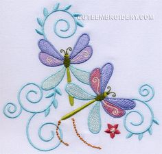 Free Embroidery Design: Dragonfly