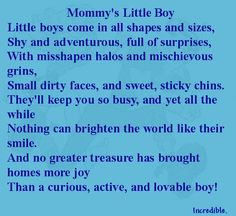 ~ Mommy's Little Boy poem