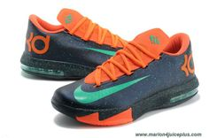 8c2965b02aab Discounts Nike Zoom KD 6 Navy orange 599424 500 Womens Nike Kd Shoes