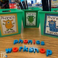 Simple solution for organizing Phonics Workshop supplies. Save time during your mini-lesson with an easy transition with these labels to get organized. Guided Reading Organization, Classroom Organization, Classroom Management, Organizing, Classroom Rules, Primary Classroom, Readers Workshop, Writer Workshop, Word Study