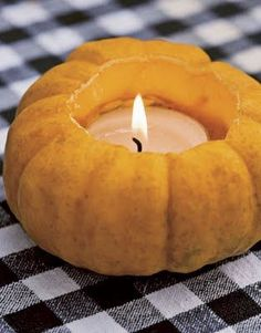 Decorazioni Halloween: la zucca portacandele