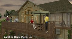Craftsman style home plan SG-1799-AA for retirees.