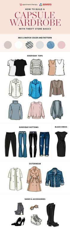 Building a Capsule Wardrobe with Thrift Store Basics | Apartment Therapy