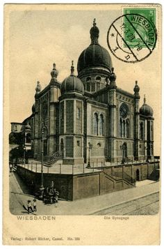 Michelsburg Synagogue, Wiesbaden, Germany, early 20th century
