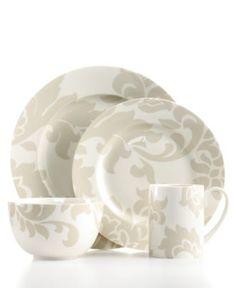 Martha Stewart Collection Dinnerware, Lisbon Grey Collection - Casual Dinnerware - Dining & Entertaining - Macy's
