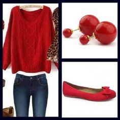 Vermelho pra impactar!!! Use e abuse das cores com Marquee de Luxe e nossos brincos Dondoka Colors!!!