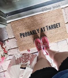 Probably at Target Doormat Funny Doormats Custom Orders Hand Painted The perfect Gift