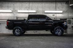 All black Custom Lifted Chevy 2007 Chevrolet Silverado 1500 4x4 Truck For Sale | Northwest Motorsport