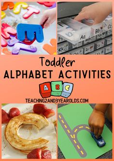 There are so many fun toddler alphabet activities that are simple, playful, and fun. Each of these 16 activities expose toddlers to letters through play and hands-on exploration. No flash cards necessary! Toddler Alphabet, Alphabet For Toddlers, Teaching Toddlers Letters, Toddler Fun, Toddler Preschool, Toddler Crafts, Teaching The Alphabet, Learning Letters, Preschool Literacy