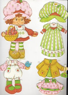 Strawberry Shortcake paperdoll