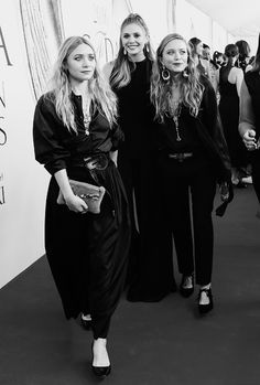 "lizziesource: "" "" Ashley Olsen, Elizabeth Olsen and Mary-Kate Olsen attend the…"