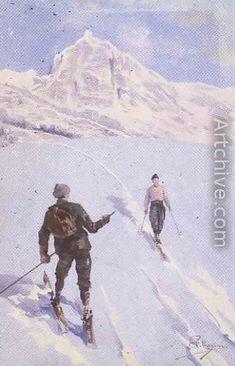 single kvinner i ski)