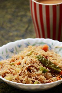 Semiya upma / Vermicelli upma / easy breakfast recipe   Vegetarian Indian Recipes