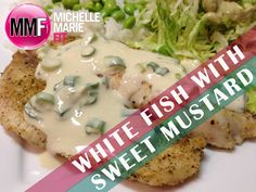 White Fish Recipe With Sweet Mustard Sauce. So easy so good! White fish are fish with light, white, flaky flesh whose main concentration of oils is located in the liver. They're naturally low in fat, and an exce. Fish Recipes Healthy Low Carb, Asian Fish Recipes, Recipes With Fish Sauce, Whole30 Fish Recipes, White Fish Recipes, Easy Fish Recipes, Protein Recipes, Paleo Recipes, Pollock Fish Recipes