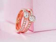Rosegold enagement ring. Tillander