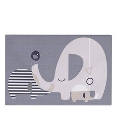 Loving this Gray Elephant Canvas Wall Art on #zulily! #zulilyfinds