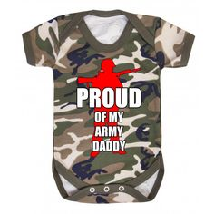 Proud Of My Army Mummy Camo Baby Grow from Lulah Blu. Add your own art work and text to a baby grow, we have all sizes from Newborn to 2 years. Twin Baby Gifts, Cute Baby Gifts, Newborn Gifts, Baby Boy Cowboy, Army Baby, Funny Baby Clothes, Babies Clothes, Baby Jordans, Personalized Pillow Cases