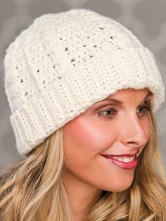 Free Crochet Pattern Download -- This Crochet Cables hat, design by Candi Jensen from Crochet Hats! From Storey Publishing, LLC, is featured in episode 5, season 4 of Knit and Crochet Now! TV. Learn more here: https://www.anniescatalog.com/knitandcrochetnow/patterns/detail.html?pattern_id=57&series=2