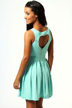 Carmel Heart Open Back Dress