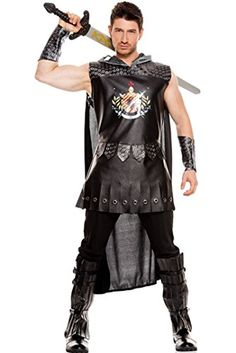 3 PC Mens Medieval Warrior King Set  XLarge  Black *** See this great product.