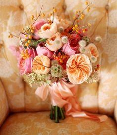 #Bouquet sposa d'#autunno - toni #arancio