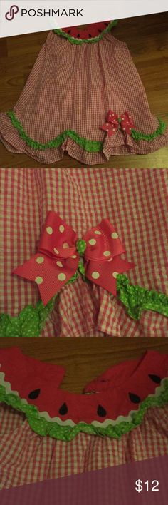 24 month watermelon dress with matching bloomers Excellent condition! Perfect summer dress with matching bloomers! Rare Editions Dresses Casual