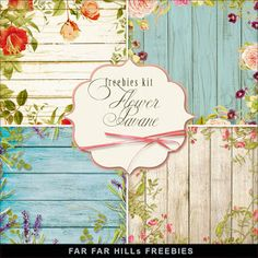 Far Far Hill - Free database of digital illustrations and papers: New Freebies Kit of Backgrounds - Flower Pavane