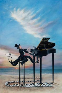 . . . a recital by the sea . . .artist: unknown