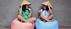 Duduk - Dutch Design, Made in Bali - KidStyleFile Plush Animals, Storage Baskets, Shades Of Blue, Pink Grey, Dutch, Bali, Tent, Textiles, Kids Rooms