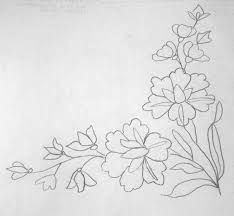 Brush Embroidery, Folk Embroidery, Embroidery Patterns Free, Learn Embroidery, Hand Embroidery Designs, Ribbon Embroidery, Embroidery Stitches, Bordado Popular, Flower Sketches