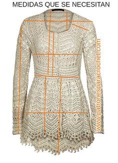 Medidas que se necesitan para tejer túnica crochet bohemia